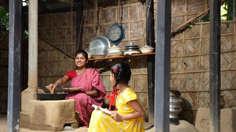 """The kitchen has become much cleaner and I can assist my children in their education even from the kitchen, which were difficult earlier. There used to be a lot of smoke, now there is hardly any smoke in the kitchen."" -Ms. Taslima Khatun from Barisal in South Central Bangladesh."