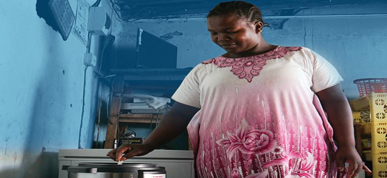woman, cooking, africa