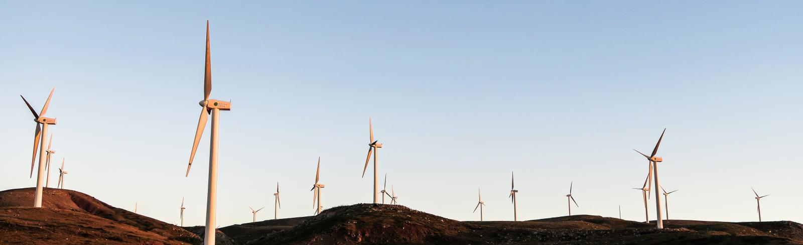 Wind turbines in Greece. Photo by Jason Blackeye