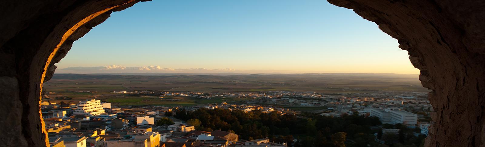View of El Kef medina, phographed from the Grand Fort. El Kef.