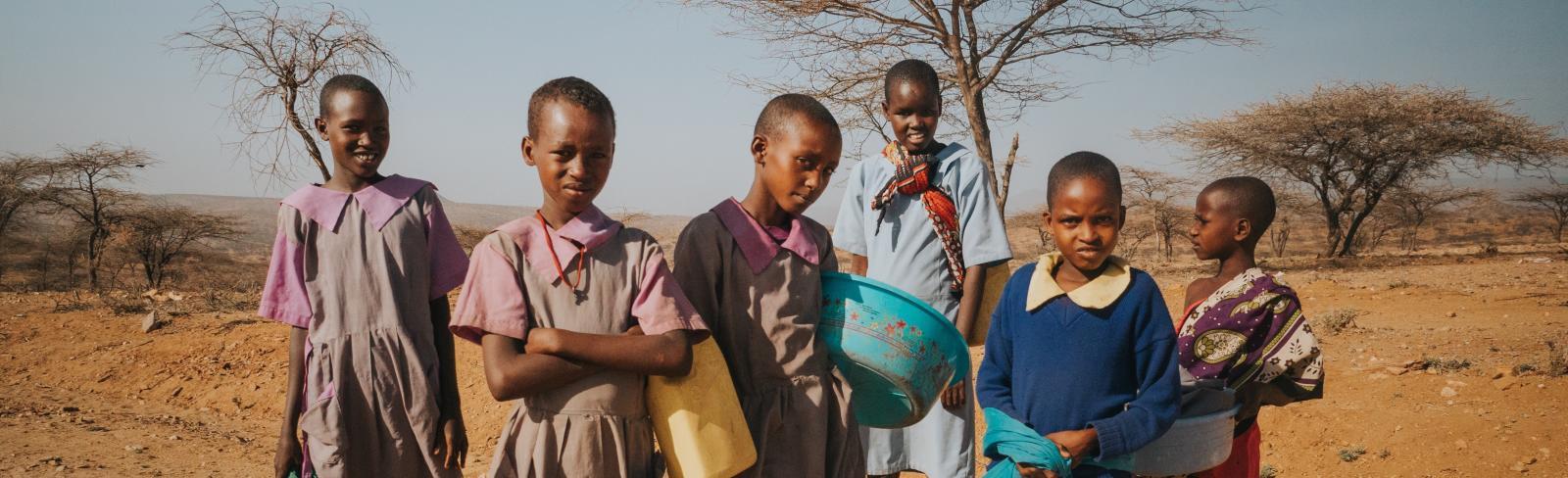 School children in Kenya. Photo by Tucker Tangeman