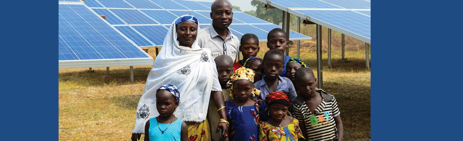 Nigeria, family, remote village, mini grids