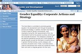WB Guidance on Gender Mainstreaming in Projects and Lending