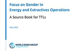 Focus on Gender in Energy and Extractives Operations