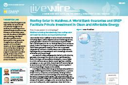 Rooftop Solar in Maldives : A World Bank Guarantee and SREP Facilitate Private Investment in Clean and Affordable Energy